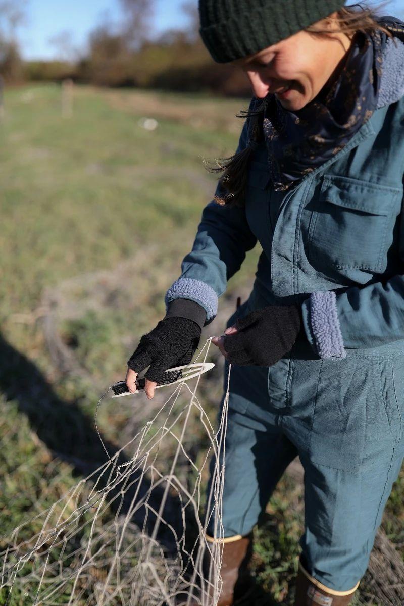 Corey mending nets