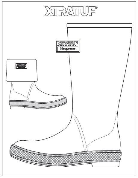 XTRATUF Legacy Boot Coloring Page