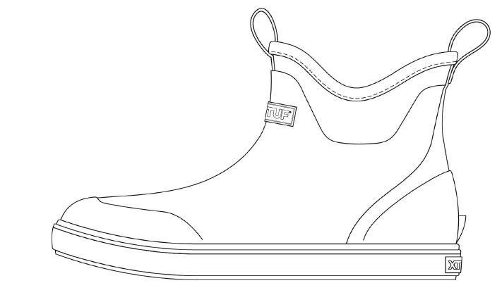 XTRATUF Ankle Deck Boot Coloring Page