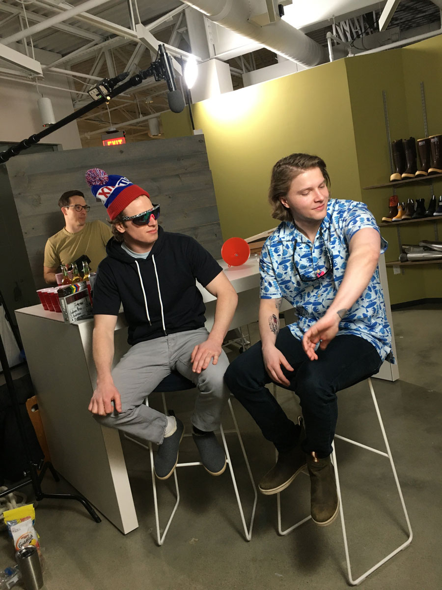 Behind the Scenes Image of the Salmon Bros.